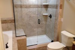Split shower & tub