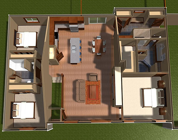 overhead custom home plan gillette